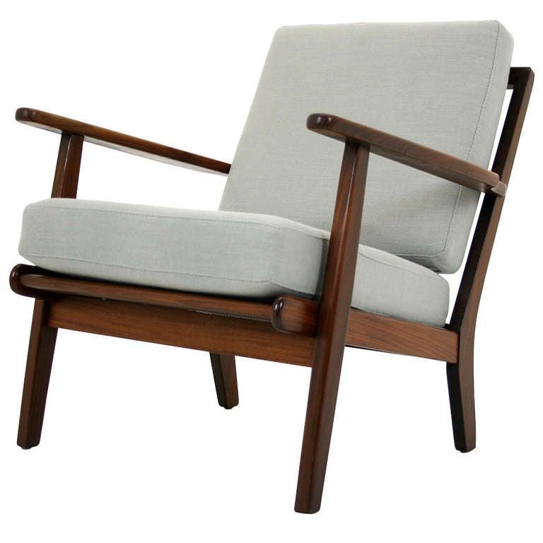 Danish Modern Teak Lounge Chair at 1stdibs