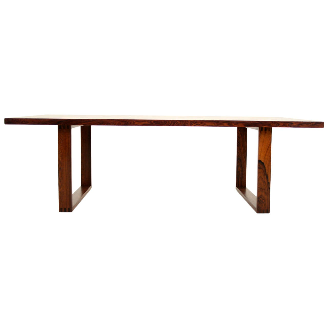 Danish mid century modern rosewood coffee table by poul for Danish modern coffee table