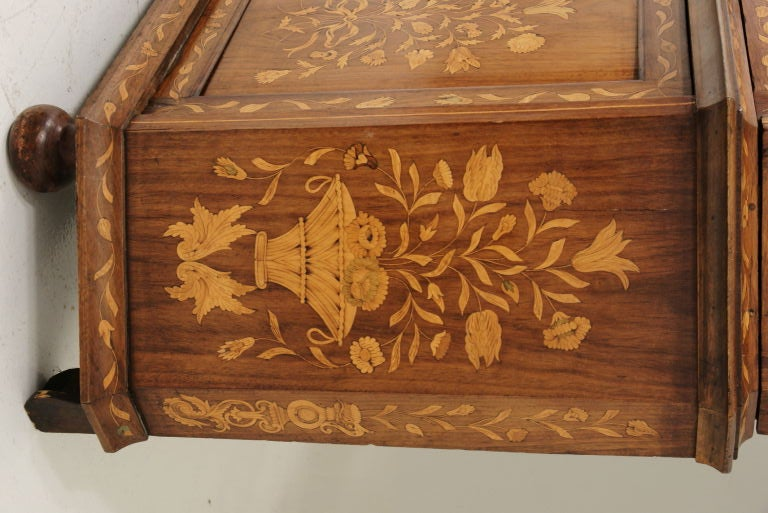 19th Century Dutch Marquetry China Cabinet 2