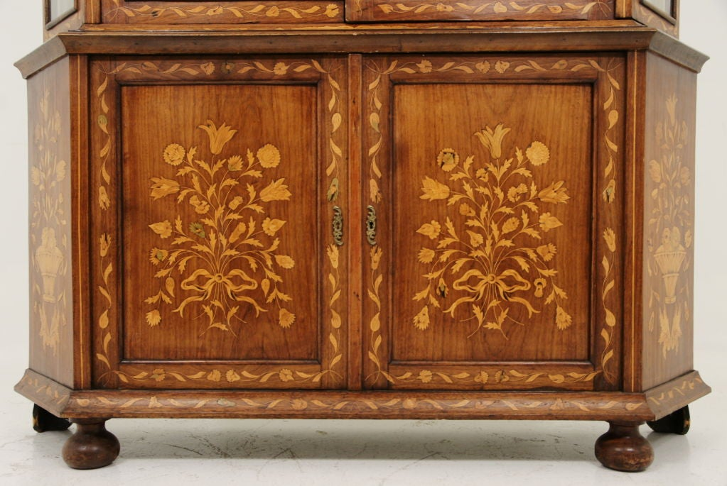 19th Century Dutch Marquetry China Cabinet 3