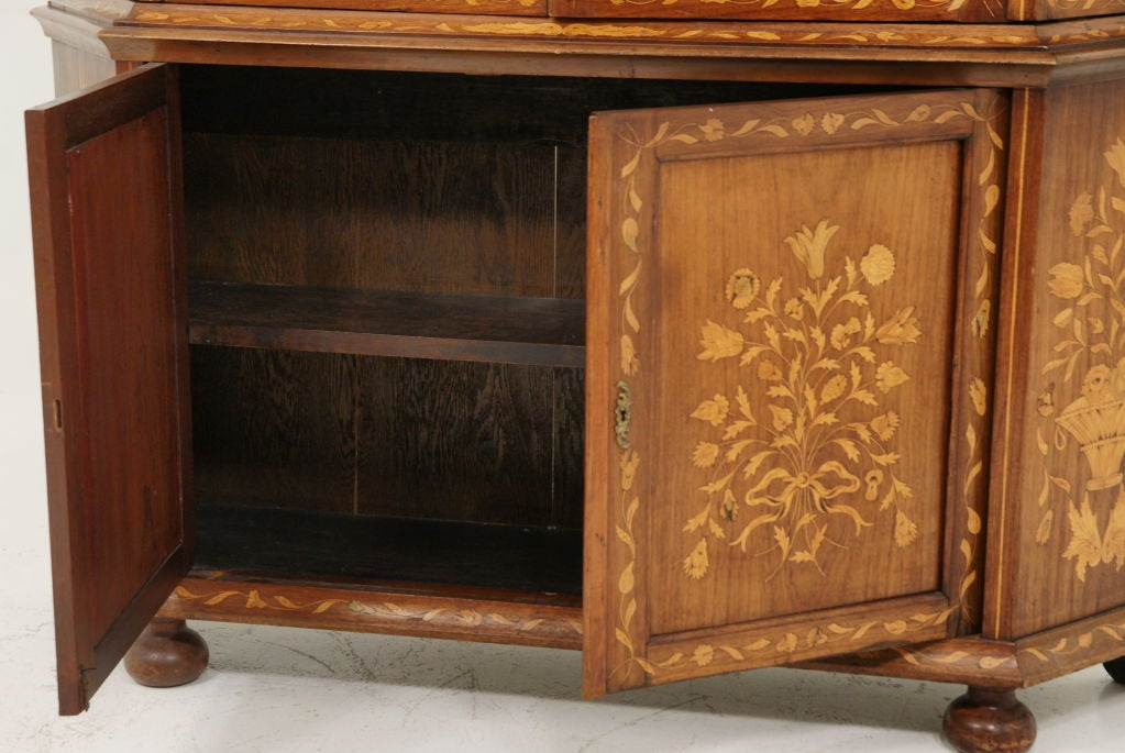 19th Century Dutch Marquetry China Cabinet image 8