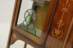 Early 20th Century Mahogany Art Nouveau Display, China Cabinet image 2