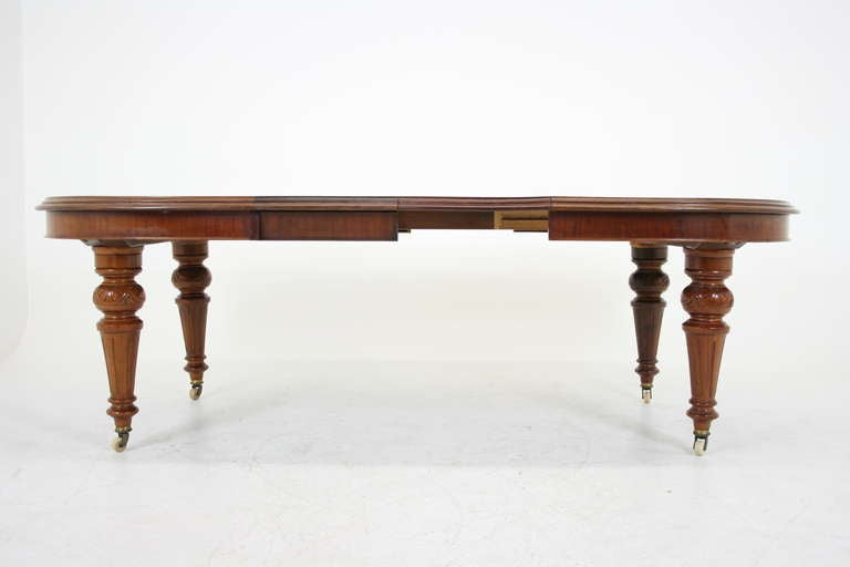 Antique Scottish Victorian Mahogany Oval Dining Table with  : IMG2265l from www.1stdibs.com size 768 x 512 jpeg 18kB