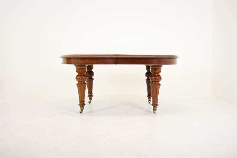 Antique Scottish Victorian Mahogany Oval Dining Table with  : IMG2290l from www.1stdibs.com size 768 x 512 jpeg 12kB