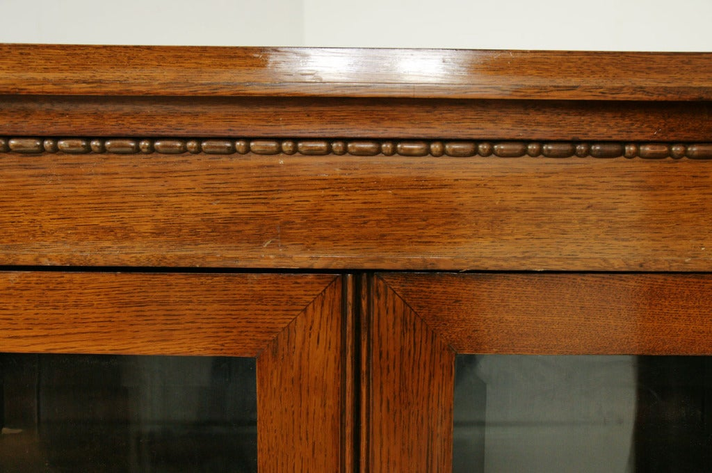Unusual Antique Oak Corner Bookcase At 1stdibs
