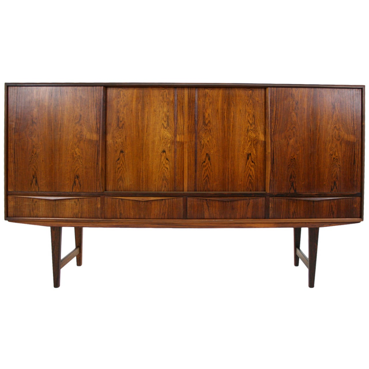 mid century modern rosewood sideboard or credenza for sale. Black Bedroom Furniture Sets. Home Design Ideas