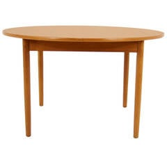 Danish Modern Teak Round or Oval Dining Table
