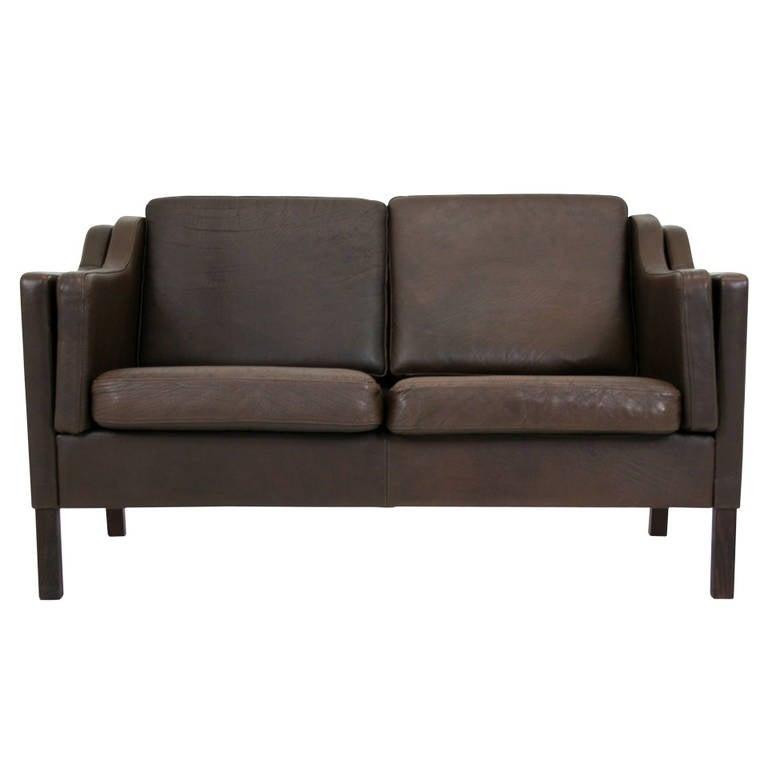 302 167 danish modern brown leather sofa at 1stdibs