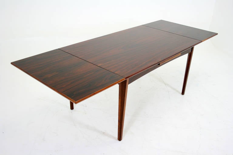 danish modern rosewood dining table at 1stdibs