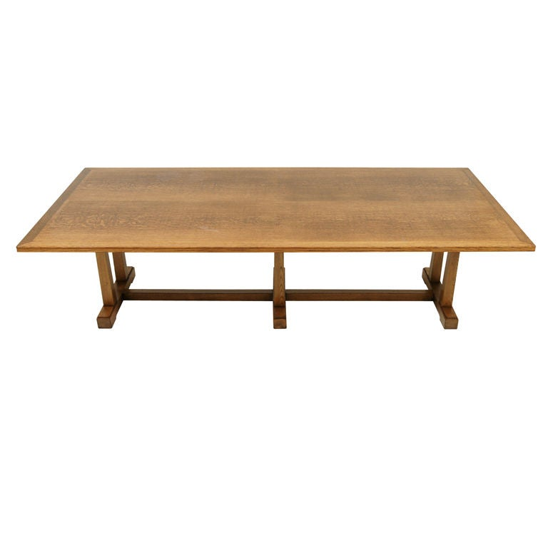Oak Arts And Crafts Dining Table At 1stdibs