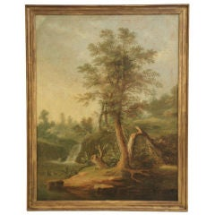 Large French Oil on Canvas (Unsigned)