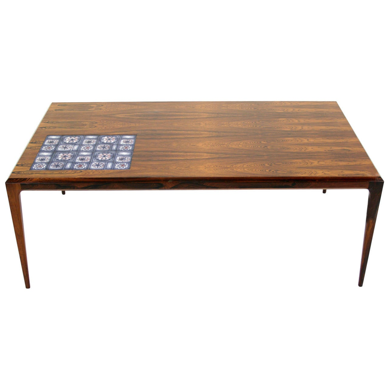 Danish mid century modern rosewood coffee table by for Danish modern coffee table