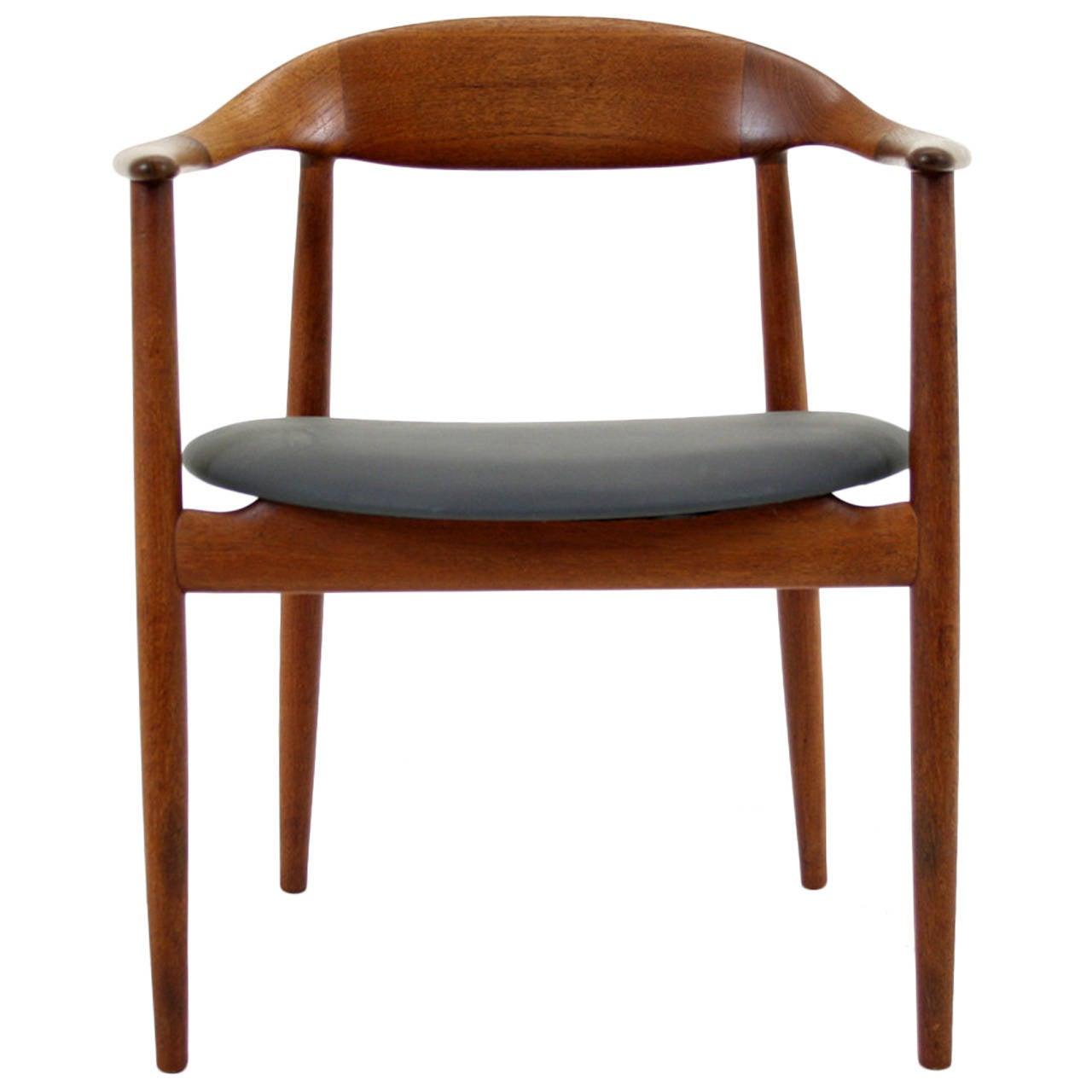Danish Mid Century Modern Teak Arm Chair By Kurt Ostervig