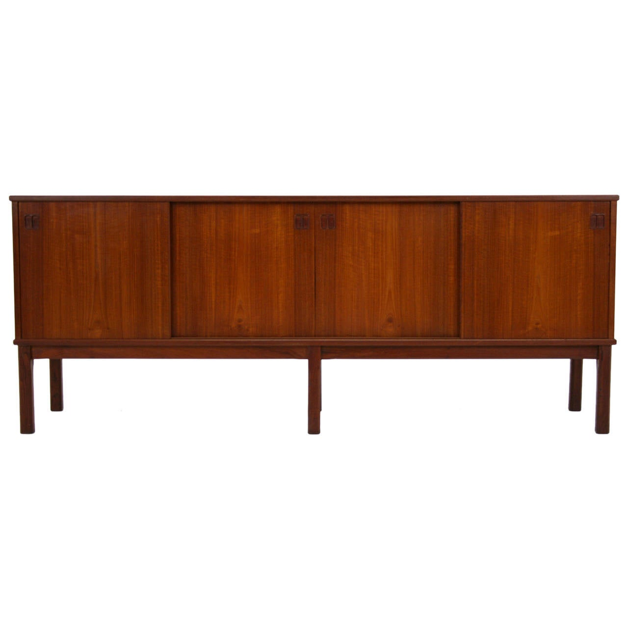 Teak danish modern sideboard cabinet credenza console mid for Credenza furniture