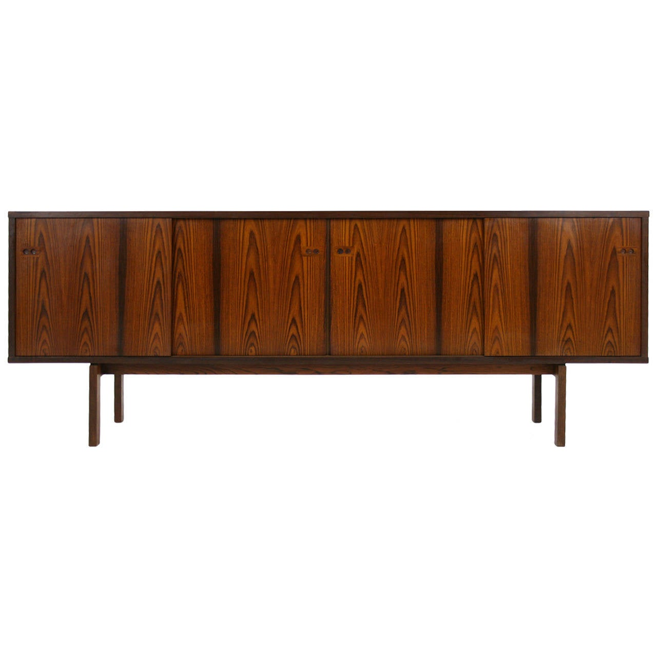 Danish Mid Century Modern Rosewood Sideboard Credenza By