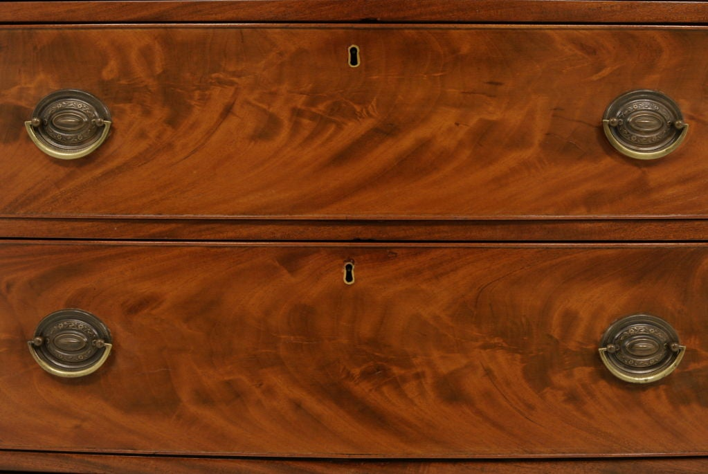 Victorian Mahogany Bow Front Chest Of Drawers 7