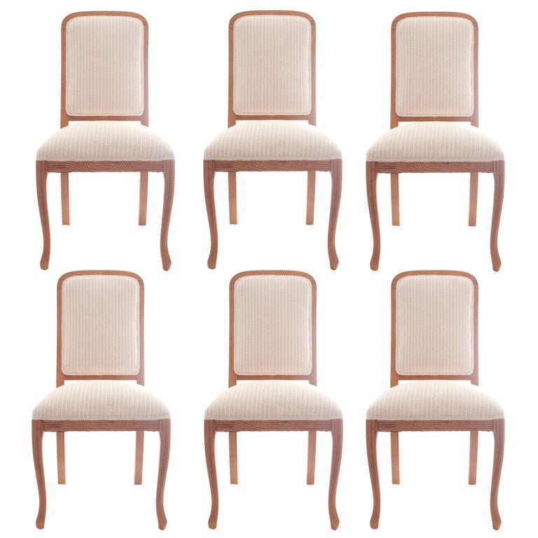 Set Of 6 Vintage Hollywood Regency Dining Chairs At 1stdibs