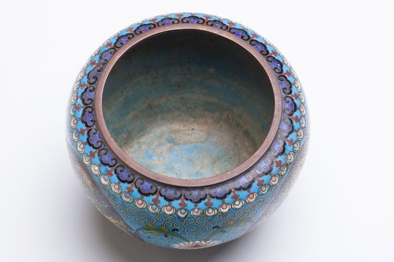 Chinese Cloisonne Dragon Bronze Urn 7