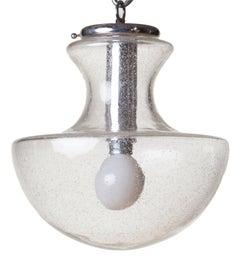 Mazzega 1970s Glass Mushroom Chandelier