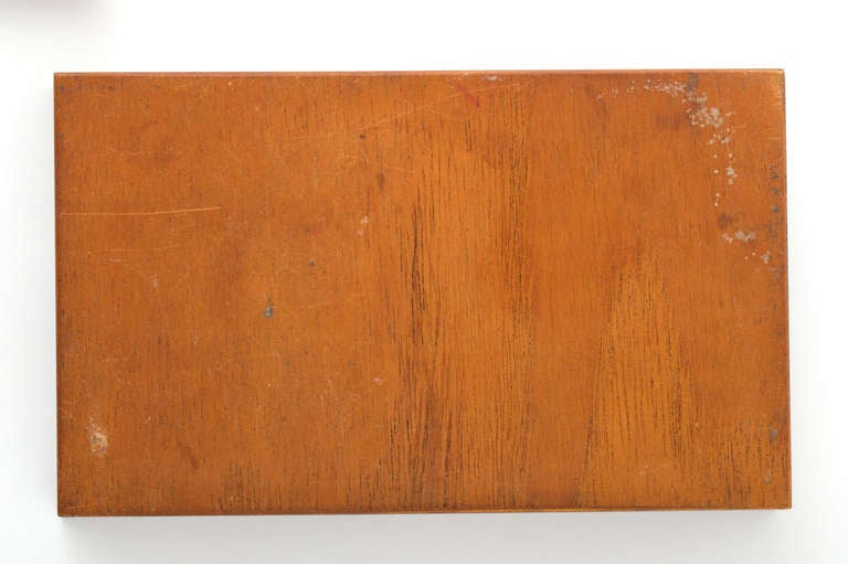 Danish Rosewood Box with Gilt Enamel Detail For Sale 2