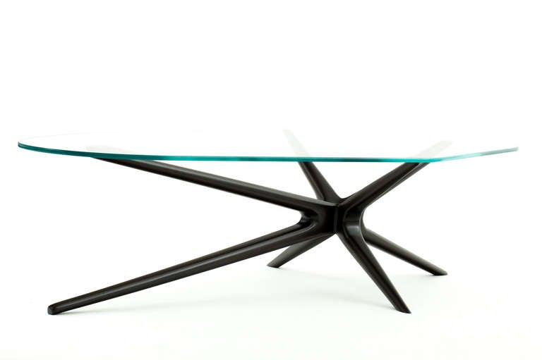 Mahogany Sputnik Coffee Table For Sale 1