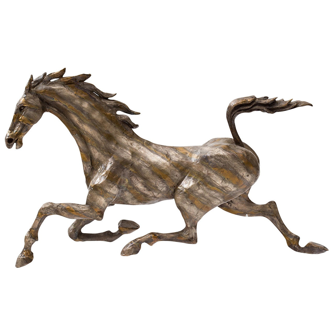 Huenergardt Bronze Running Horse Sculpture
