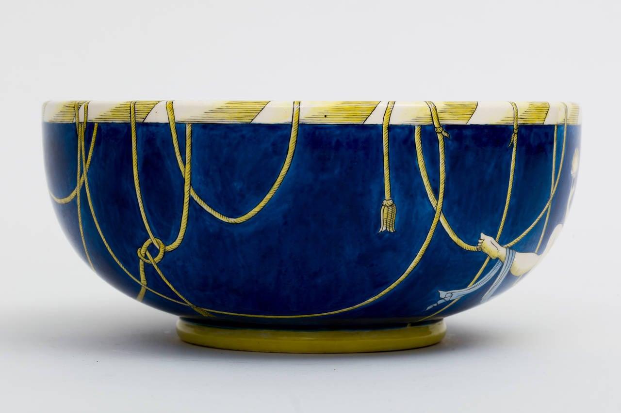 Gio ponti for ginori large italian ceramic centerpiece art