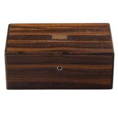 Art Deco Macassar Ebony Humidor Box