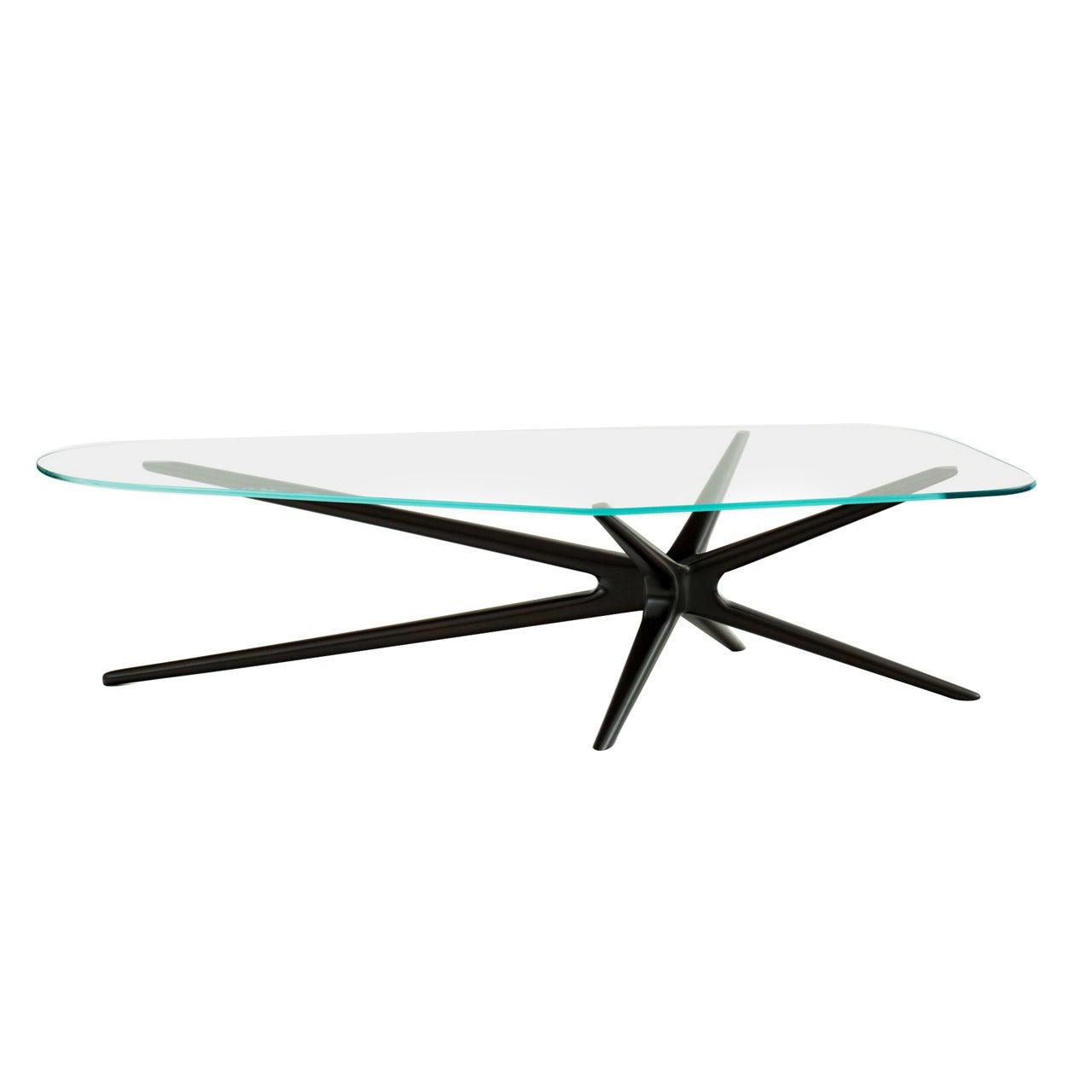 Mahogany Sputnik Coffee Table