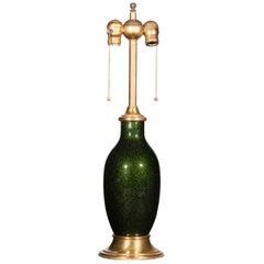 Barovier & Toso 1940s Emerald Aventurine Glass Lamp