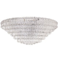 "Kinkeldey Faceted Crystal 52"" Palace Chandelier"