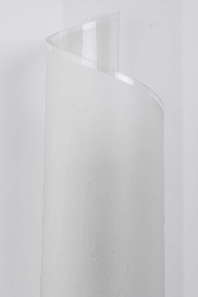 Wall Sconce Frosted Glass : Karl Springer Frosted Glass Wall Sconces at 1stdibs