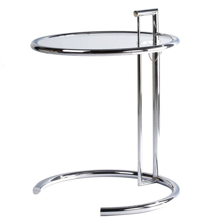 Eileen gray e 1027 chrome and glass table at 1stdibs - E 1027 table by eileen gray ...