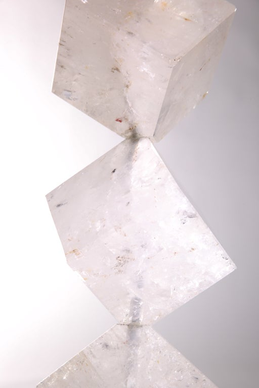 Rock Crystal Cube Lamps In Excellent Condition For Sale In New York, NY
