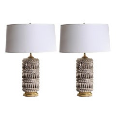 Geometric Patterned Mercury Glass Lamps