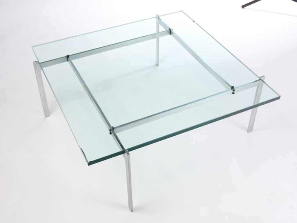 Poul Kjaerholm PK 61 Steel And Glass Coffee Table 2