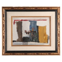 Abstract Oil Painting circa 1968 by Louis Zansky