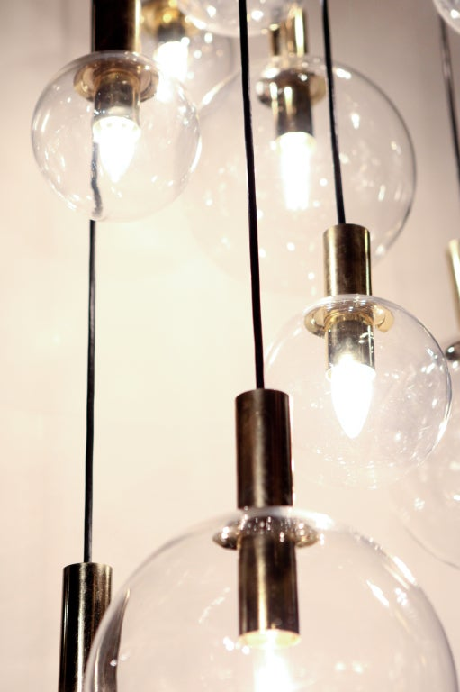 raak twelve glass sphere chandelier 3 - Sphere Chandelier