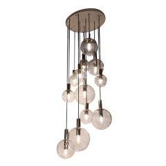 RAAK Twelve Glass Sphere Chandelier