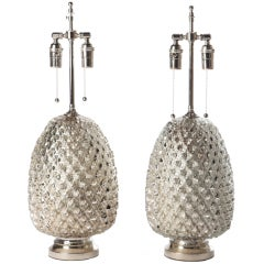 Mercury Glass Pineapple Lamps