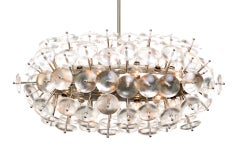 Convex Glass Sputnik Zeppelin Chandelier