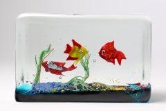 Cenedese Glass Block Aquarium Sculpture image 3