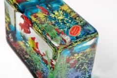 Cenedese Glass Block Aquarium Sculpture image 5