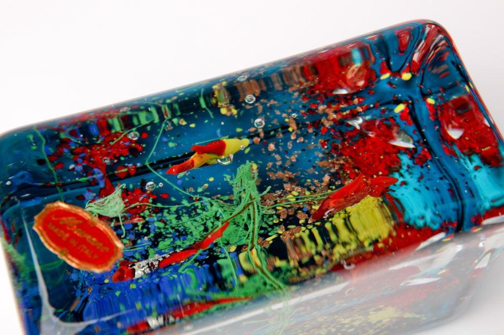 Cenedese Glass Block Aquarium Sculpture 7
