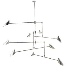David Weeks Brushed Aluminum and Nickel Mobile Chandelier