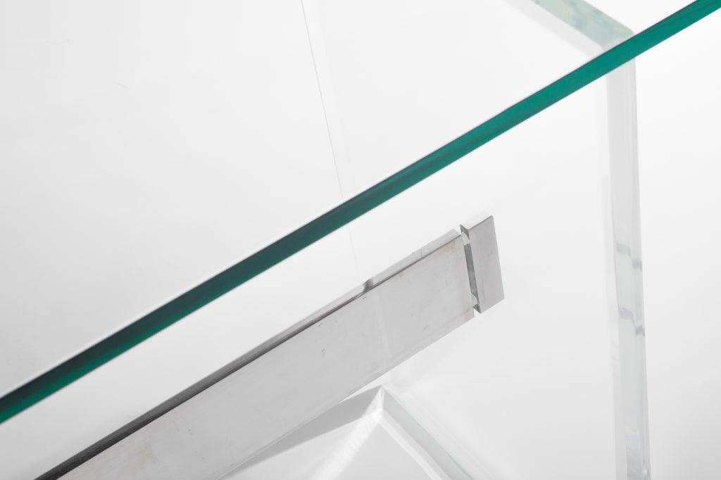 Lucite, Aluminum and Glass Console Desk 4