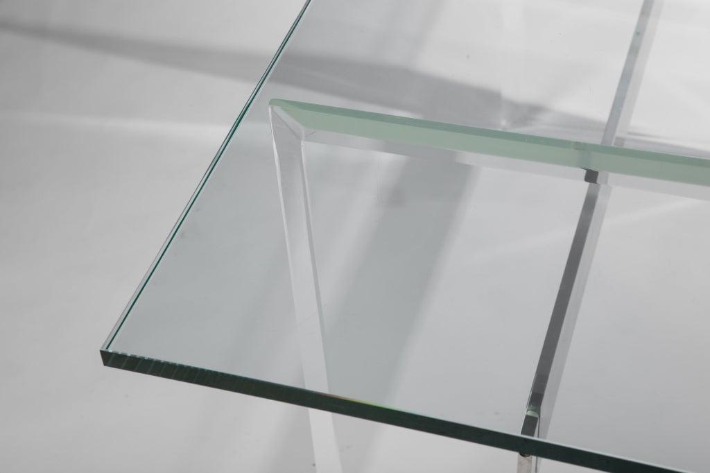 Lucite, Aluminum and Glass Console Desk 5