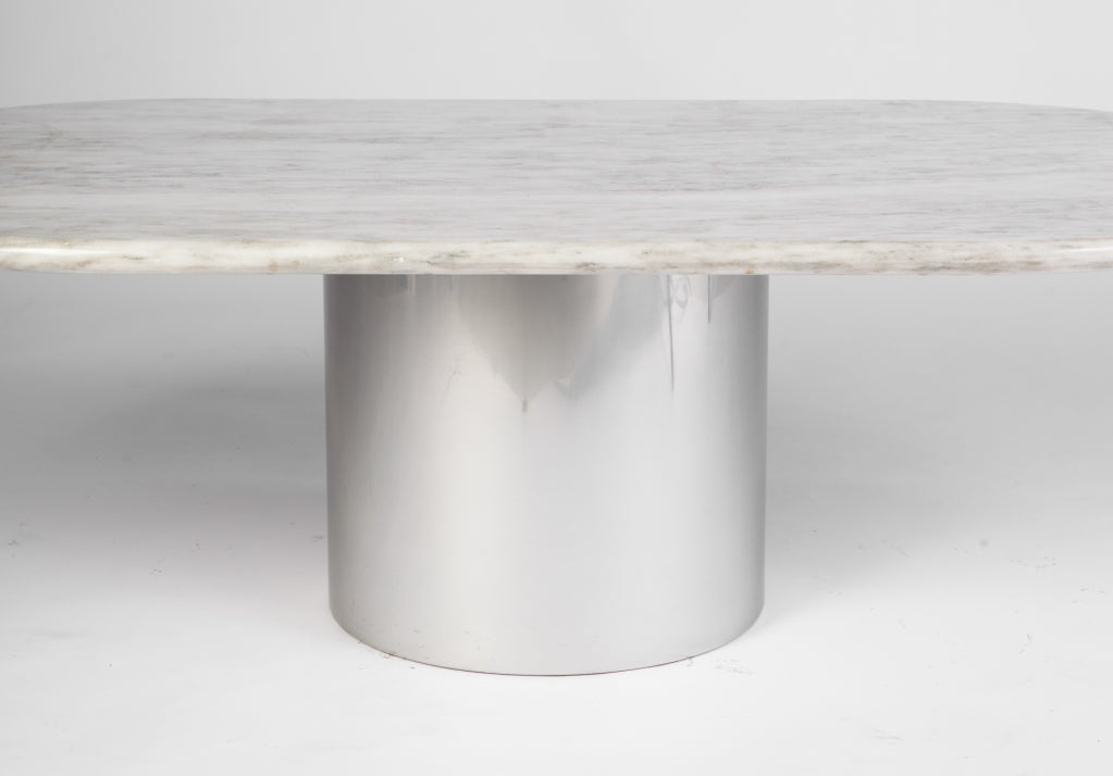 Paul mayen for habitat marble and aluminum coffee table for Coffee tables habitat