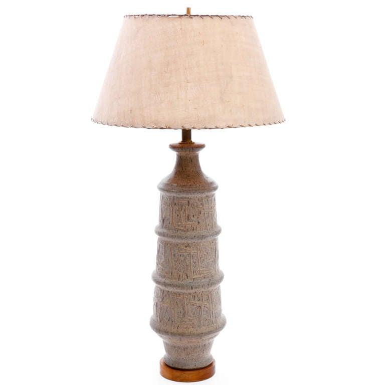 Bitossi 1950s Italian Abstract Ceramic Lamp