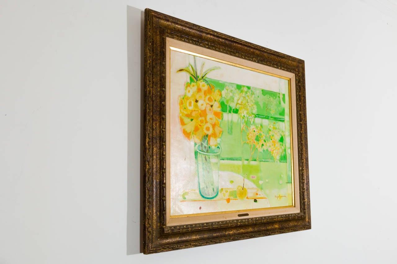 Canvas Miguel Guzman Midcentury Oil Painting